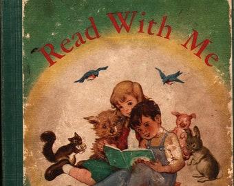 Read With Me + Charlotte Krum + Pauline Adams + 1946 + Vintage Kids Book