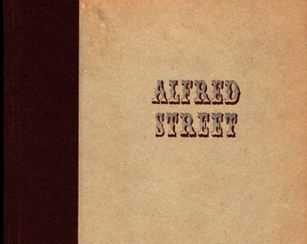Alfred Street + First Edition + Russell McLauchlin + William A. Bostick + 1946 + Vintage Book