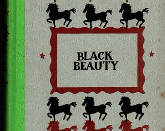 Black Beauty * Junior Deluxe Edition * Anna Sewall * Walter Seaton * Nelson Doubleday * 1954 * Vintage Kids Book