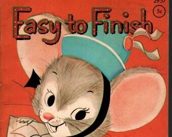 Easy to Finish * Bonnie Baumann * Whitman Publishing * 1964 * Vintage Kids Book