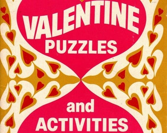 Valentine Puzzles and Activities * Barbara Seuling * Xerox Education Publications * 1980 * Vintage Kids Book