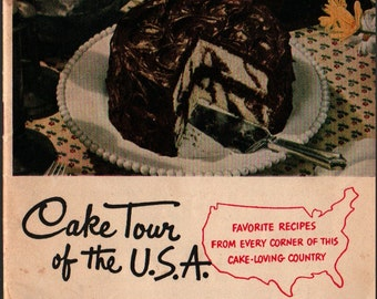 Cake Tour of the U.S.A. + Frances Barton + 1949 + Vintage Cook Book