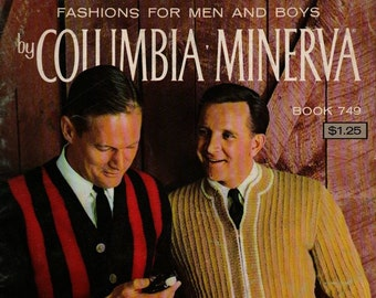 Fashions for Men and Boys by Columbia Minerva Book 749 + Vintage Craft Book