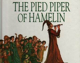 The Pied Piper of Hamelin + Robert Browning + Kate Greenaway + 1993 + Vintage Kids Book