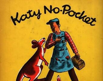 Katy No-Pocket * First Edition * Emmy Payne * H. A. Rey (1944) Vintage Kids Book