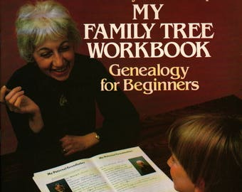 My Family Tree Workbook Genealogy For Beginners + Rosemary A. Chorzempa + 1982 + Vintage Kids Book