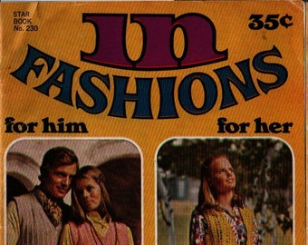 In Fashions For Him For Her in Knits in Crochets Star Book No. 230 + Vintage Pattern Book
