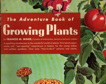 The Adventure Book of Growing Plants + Frances M. Miner + Aubrey Combs, Jr + 1959 + Vintage Book