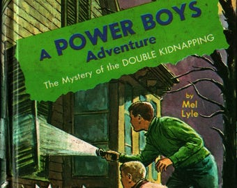 The Mystery of the Double Kidnapping A Power Boys Adventure * Signed * Mel Lyle * Raymond Burns * 1966 * Vintage Mystery Book