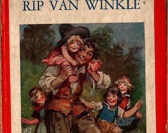 Rip Van Winkle: a Tale of the Hudson + Washington Irving + Frances Brundage + 1927 + Vintage Kids Book