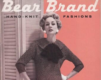 Bear Brand Hand-Knit Fashions Vol. 356 Dresses Coats Suits Cardigans Bulkies + 1958 + Vintage Knitting Patterns
