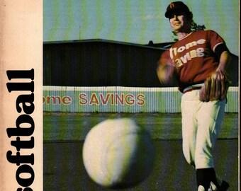 Inside Softball + Loren Walsh + Photographic Illustrations + 1977 + Vintage Sports Book