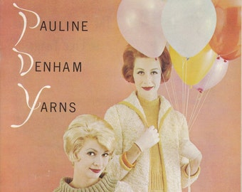 California Originals Pauline Denham Yarns Book 8 + Vintage Knitting Patterns