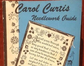 Carol Curtis Needlework Guide + 1940s + Vintage Craft Book