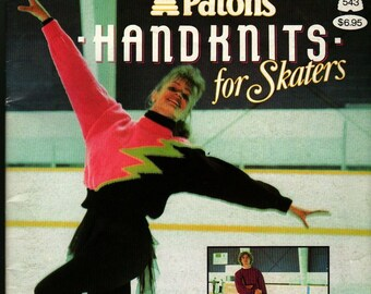 Patons Handknits for Skaters + 1990 + Vintage Book