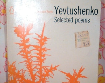 Yevtushenko Selected Poems + Yevgeny Yevtushenko + 1971 + Vintage Book