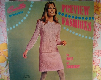 Bucilla Presents Preview Fashions to Knit or Crochet + 1969 + Vintage Knitting Patterns