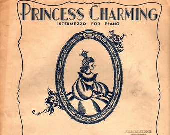 Princess Charming Intermezzo for Piano + Maxwell Eckstein + 1933 + Vintage Sheet Music