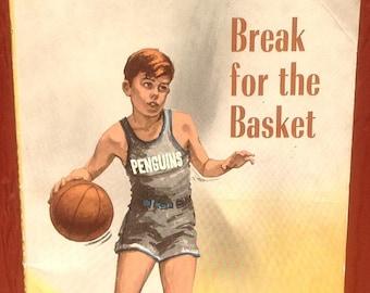 Break for the Basket + Matt Christopher + Foster Caddell + 1971 + Vintage Kids Book