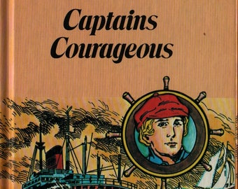 Captains Courageous + Rudyard Kipling + Leonardo Patricia + 1977 + Vintage Kids Book