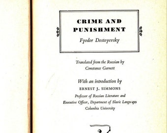 Crime and Punishment * Fyodor Dostoyevsky * The Modern Library * 1950 * Vintage Literature Book