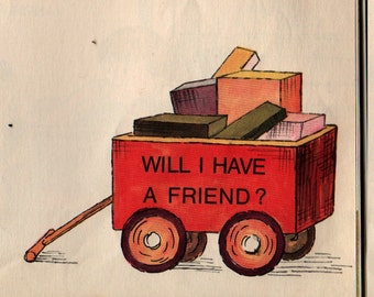 Will I Have a Friend – First Printing * Miriam Cohen * Lillian Hoban * 1967 * Vintage Kids Book