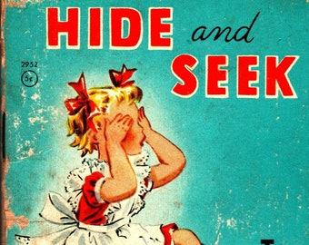 Hide and Seek + Tiny Tales + Alcy Kendrick + Whitman Publishing + 1950 + Vintage Kids Book