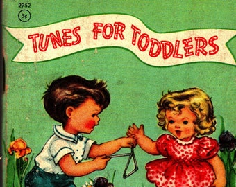 Tunes For Toddlers + Tiny Tales + Whitman Publishing + 1950 + Vintage Kids Book