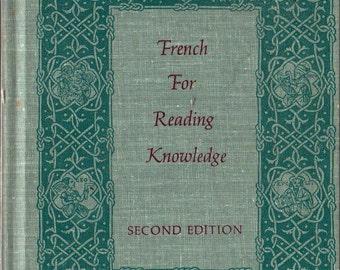 French For Reading Knowledge + Joseph Palmeri and E. E. Milligan + 1969 + Vintage Language Book