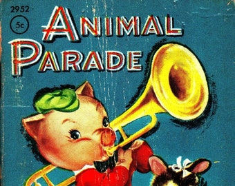 Animal Parade * Tiny Tales * Clare McKinley * Whitman Publishing * 1949 * Vintage Kids Book