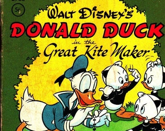Walt Disney's Donald Duck in the Great Kite Maker * Tiny Tales * Whitman Publishing * 1949 * Vintage Kids Book