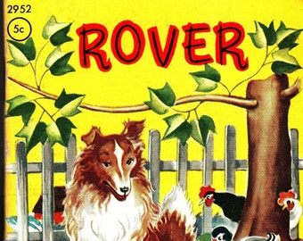 Rover + Tiny Tales + Janet Laura Scott + Whitman Publishing + 1949 + Vintage Kids Book