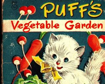Puff's Vegetable Garden * Tiny Tales * Janet Laura Scott * Whitman Publishing * 1949 * Vintage Kids Book