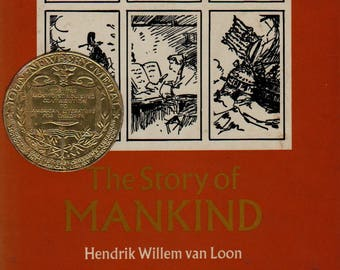 The Story of Mankind – Newbury Medal * Hendrik Willem van Loon * 1972 * Vintage History Book
