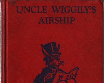 Uncle Wiggily's Airship + Howard R. Garis + Elmer Rache + 1939 + Vintage Kids Book