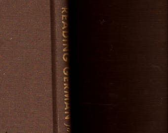 Reading German For Scientists + Hans Eichner and Hans Hein + 1959 + Vintage Language Instruction Book