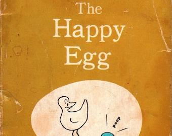 The Happy Egg * Ruth Krauss * Crockett Johnson * Scholastic Book Service * 1972 * Vintage Kids Book