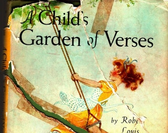 A Child's Garden of Verses * Robert Louis Stevenson * Eulalie * Platt and Munk * 1961 * Vintage Poetry Book