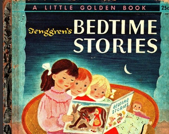 Tenggren's Bedtime Stories + A Little Golden Book + Gustaf Tenggren + Simon and Schuster + 1942 + Vintage Kids Book