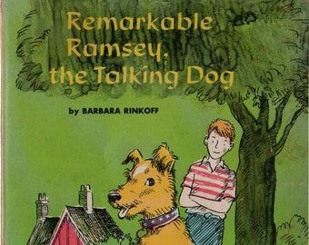 Remarkable Ramsey, the Talking Dog + Barbara Rinkoff + Leonard Shortall + 1970 + Vintage Kids Book
