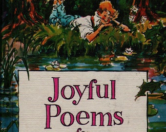 Joyful Poems For Children + James Whitcomb Riley + Charles Geer and Sally Tate + 1960 + Vintage Poetry Book