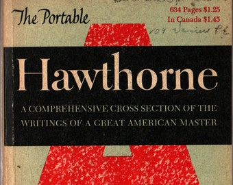 The Portable Hawthorne * Nathaniel Hawthorne * 1955 * Vintage Literature Book