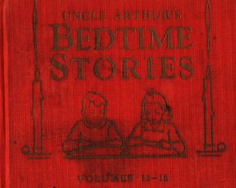 Uncle Arthur's Bedtime Stories Volumes 13 – 16 + Arthur S. Maxwell + 1942 + Vintage Kids Book