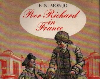 Poor Richard in France * First Edition * F. N. Monjo * Brinton Turkle * Holt Rinehart * 1973 + Vintage Kids Book