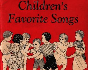 Children's Favorite Songs + 1946 + Vintage Music Book