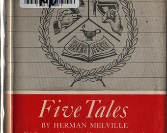 Five Tales: Great Illustrated Classics + Herman Melville + 1967 + Vintage Literature Book