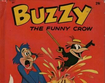 Buzzy the Funny Crow * Harvey Cartoon Studios * Wonder Books * 1963 * Vintage Kids Book