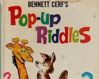 Bennett Cerf's Pop-up Riddles * Bennett Cerf * Graphics International * 1967 * Vintage Kids Book