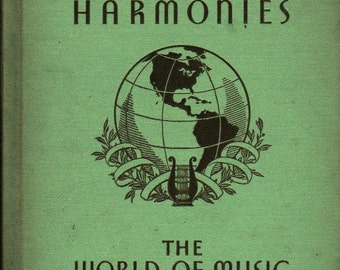 Tunes and Harmonies The World of Music * Mabelle Glenn * 1936 * Vintage Kids Book