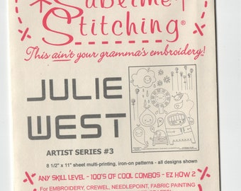 Sublime Stitching Embroidery Pattern: Julie West